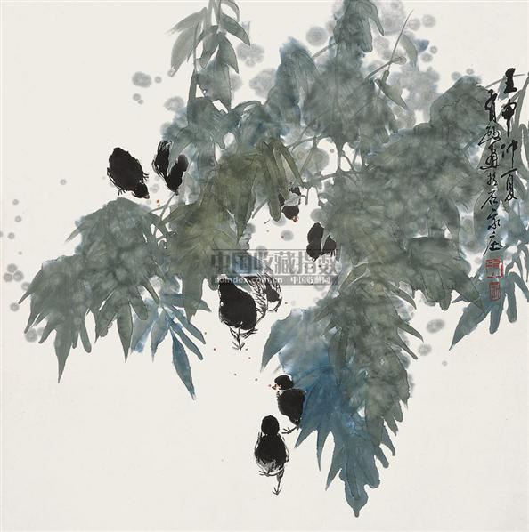 花鸟 立轴 设色纸本 - 5448 - 中国书画 - 2010秋季艺术品拍卖会 -收藏网