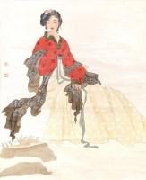 工笔人物 纸本 立轴 - 王美芳 - 中国书画(二)无底价专场 - 天目迎春 -收藏网