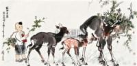 绿野秀鹿 镜心 设色纸本 - 李延声 - 中国书画四·当代书画 - 2010秋季艺术品拍卖会 -收藏网