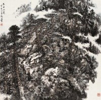 太白山道 立轴 设色纸本 - 赵振川 - 中国书画(一) - 2010年秋季艺术品拍卖会 -中国收藏网
