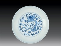 清·道光 青花云龙纹盘 -  - 瓷玉珍玩 - 2006艺术精品拍卖会 -收藏网