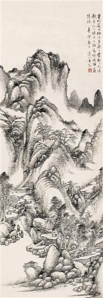 深山幽居图 立轴 水墨纸本 - 5289 - 中国古代书画  - 2010年秋季艺术品拍卖会 -收藏网