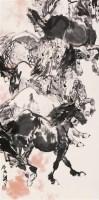 八骏图 立轴 设色纸本 - 刘勃舒 - 中国书画 - 第54期书画精品拍卖会 -收藏网