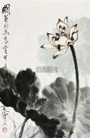 荷塘清趣 立轴 设色纸本 - 康师尧 - 中国书画(二) - 2010年秋季艺术品拍卖会 -收藏网
