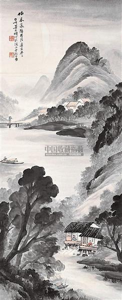 山水 立轴 设色纸本 - 6188 - 中国书画 - 2006秋季书画艺术品拍卖会 -中国收藏网