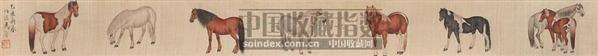 马 手卷 设色绢本 - 116774 - 中国书画 - 2006秋季书画艺术品拍卖会 -收藏网