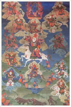 战神唐卡 -  - 佛像唐卡 - 2007春季艺术品拍卖会 -收藏网