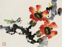 红棉螳螂 镜片 - 135045 - 中国书画 - 壬辰迎春 -收藏网