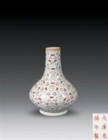 清光绪 粉彩云蝠纹荸荠瓶 -  - 瓷器雅玩艺术品 - 2007春拍瓷器雅玩家具拍卖 -收藏网
