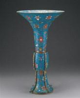 明 铜胎掐丝珐琅觚 -  - 瓷器、工艺品及鼻烟壶 - 2006秋季艺术品拍卖会 -收藏网