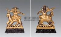 18-19世纪 铜镀金骑羊护法像 -  - 雪域佛光 - 2007年秋季艺术品拍卖会 -收藏网