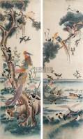 刺绣花鸟挂屏 (一对) -  - 中国古董家具及书画 - 2011年春季拍卖 -收藏网