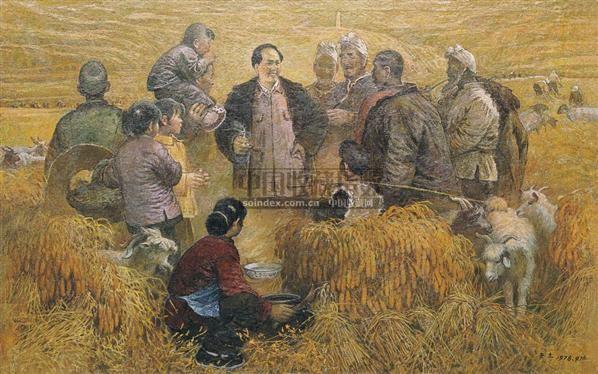 宝塔山下 布面油彩 - 153850 - 中国油画(一) - 2006年中国艺术品春季拍卖会 -收藏网