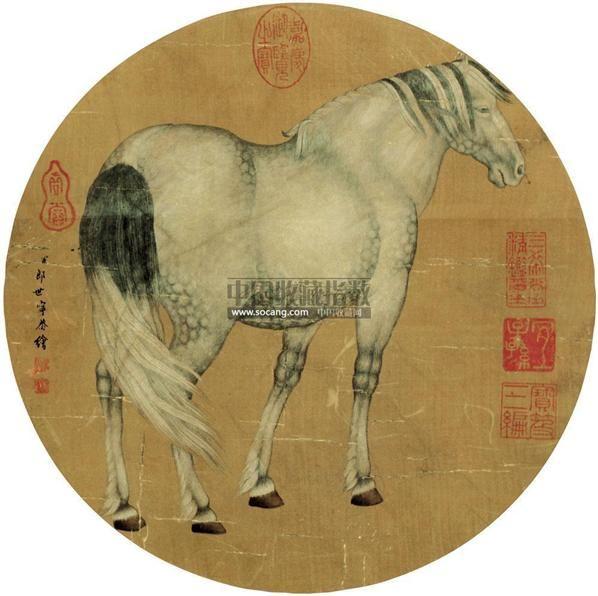 马 镜片 绢本 - 116880 - 扇画小品专题 - 庆二周年秋季拍卖会 -中国收藏网
