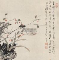 花卉草虫 镜心 设色绢本 - 1518 - 小品专场 - 首届艺术品拍卖会 -中国收藏网