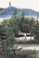 山水 册页 (二开选一) 设色纸本 - 114993 - 中国书画一 - 2011年秋季大型艺术品拍卖会 -收藏网