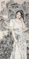 幽思 镜心 设色纸本 - 苗再新 - 中国当代水墨 - 2009秋季拍卖会 -收藏网