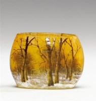 杜姆兄弟 雪景图案花瓶 -  - 装饰美术 - 2011秋季伊斯特香港拍卖会 -收藏网