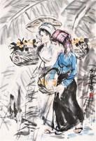 琵琶女 镜心 设色纸本 - 124317 - 中国书画 - 2011首届书画精品拍卖会 -收藏网