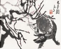 迎春图 镜框 设色纸本 - 139817 - 中国书画二 - 2011秋季书画专场拍卖会 -收藏网