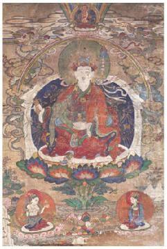 莲花生与二明妃唐卡 -  - 佛像唐卡 - 2007春季艺术品拍卖会 -收藏网