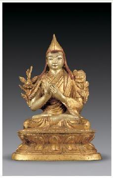 铜鎏金宗喀巴像 -  - 佛像唐卡 - 2007春季艺术品拍卖会 -收藏网