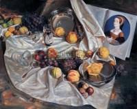 有古典头像的静物 布面油画 - 13201 - 中国油画 - 2005秋季大型艺术品拍卖会 -收藏网