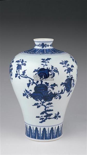 青花三果纹梅瓶 -  - 瓷器 玉器 杂项 - 2006年夏季拍卖会 -收藏网