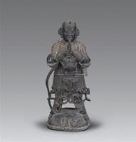 明早期 铜韦陀菩萨像 -  - 妙音天籁-佛教艺术品 - 2006年秋(十周年)拍卖会 -收藏网