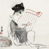 仕女 镜片 设色纸本 - 李世南 - 中国书画(二) - 2012迎春艺术品拍卖会 -收藏网