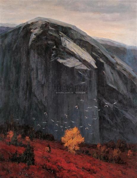 呼唤的远山 布面油画 - 10302 - 中国油画及雕塑 - 2005秋季拍卖会 -收藏网