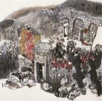 陕北风情 立轴 设色纸本 - 20759 - 长安之风 - 首届艺术品拍卖会 -中国收藏网