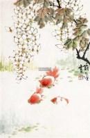 金鱼图 镜片 设色纸本 - 129091 - 艺海撷珍—书画艺术品专场 - 2011年秋季拍卖会 -中国收藏网