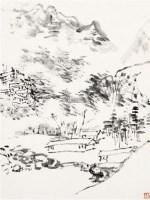 山水册页 镜芯 水墨纸本 - 116142 - 中国书画一 - 2011年秋季艺术品拍卖会 -中国收藏网