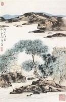 湖山清逸 镜片 纸本 - 123592 - 保真作品专题 - 2011春季书画拍卖会 -收藏网