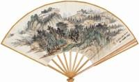 蕭愻(1883-1944)山水 成扇 -  - 中国书画 - 四季拍卖会(二) -中国收藏网