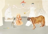 仲夏夜之梦 布面油画 - 32762 - 油画专场 - 2011首届秋季艺术品拍卖会 -收藏网