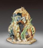 三彩斗马 -  - 瓷器 - 2011中博香港大型艺术品拍卖会 -收藏网