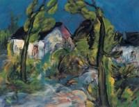 1998年 农舍 布面 油画 - 邱瑞敏 - 中国油画及雕塑 - 2006秋季拍卖会 -收藏网
