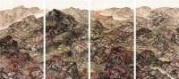 山水 四屏 设色纸本 -  - 中国书画(二) - 2012迎春艺术品拍卖会 -收藏网