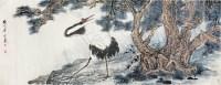 松鹤图 镜心 设色纸本 - 117343 - 中国书画专场 - 2008首届秋季大型古玩书画拍卖会 -收藏网