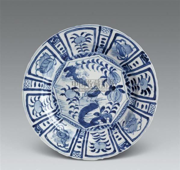 青花秋虫觅食盘 -  - 海捞瓷及古代玉器专场 - 2007春季艺术品拍卖会 -收藏网