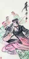 新疆歌舞 立轴 设色纸本 - 黄胄 - 中国书画 - 2008太平洋迎春艺术品拍卖会 -收藏网