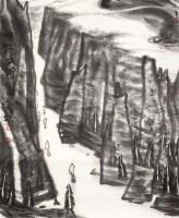 峡江夕照图 镜片 设色纸本 - 李宝林 - 中国书画(一) - 五周年秋季拍卖会 -收藏网