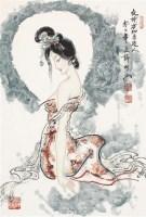 夜吟方知月近人 设色纸本 - 123322 - 中国书画(二) - 2011年金秋精品书画拍卖会 -收藏网