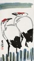 双鹤 镜心 设色纸本 - 崔子范 - 中国书画(二) - 2007秋季大型拍卖会 -收藏网