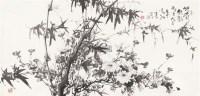 竹菊秋韵 镜心 水墨纸本 -  - 中国书画专场 - 迎新春书画精品拍卖会 -中国收藏网