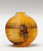 杜姆兄弟 帆船风景图案花瓶 -  - 装饰美术 - 2011秋季伊斯特香港拍卖会 -收藏网