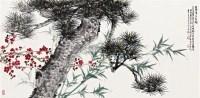 三友图 镜框 设色纸本 -  - 名家作品(一) - 第16届广州国际艺术博览会名家作品拍卖会 -收藏网