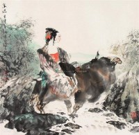 泉边 镜心 设色纸本 - 胡正伟 - 中国书画 - 2007年秋季大型艺术品拍卖会 -中国收藏网